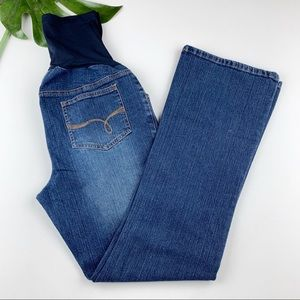 Two Hearts Maternity Jeans Boot Cut Belly Panel M
